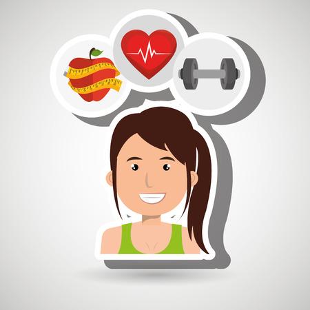jog: woman sport health vector illustration eps 10 Illustration