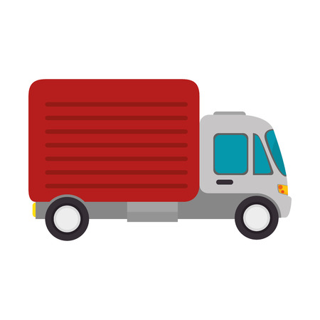 commerce and industry: truck cargo delivery vehicle shipping transport commerce industry vector illustration
