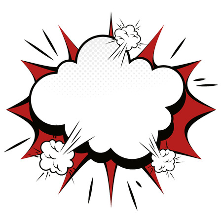 explosion comic pow expression bomb bam boom effect vector illustration Çizim