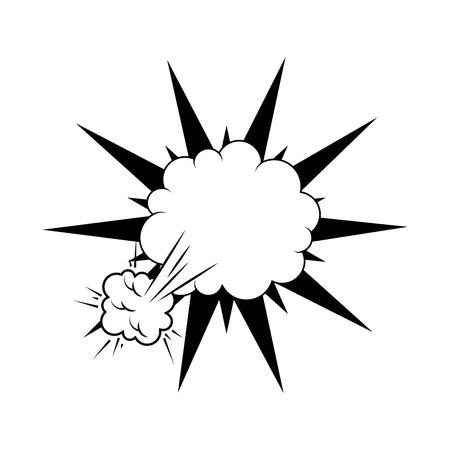 kaboom: explosion comic pow expression bomb bam boom effect vector illustration Illustration
