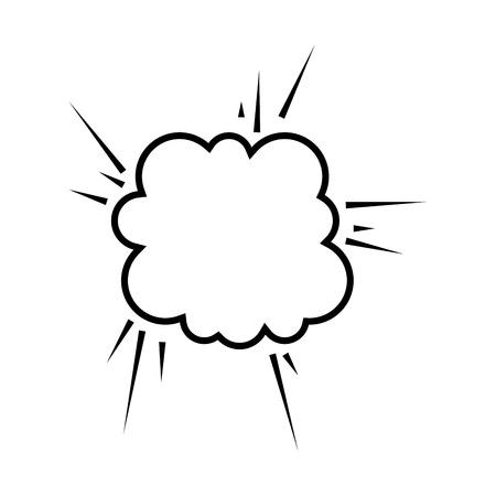 explosion comic pow expression bomb bam boom effect vector illustration Illustration