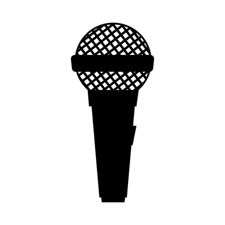 mike: microphone mic audio mike sound button technology communication vector illustration
