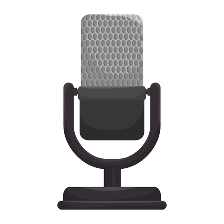 mike: microphone radio mic audio mike sound retro technology communication vector illustration