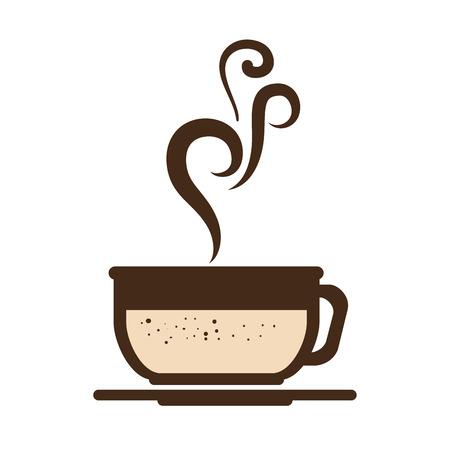 coffee mug cup hot drinking caffeine beverage vector illustration Illustration