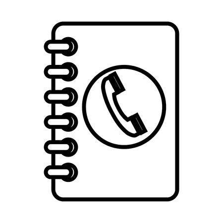 directorio telefonico: ilustración vectorial móvil Guía telefónica cesta Agenda telefónica libro