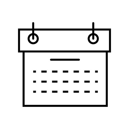 day planner: calendar planner schedule date time month day  vector illustration