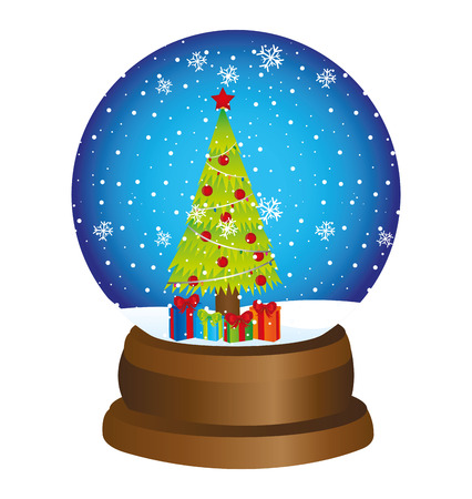 christmas toy ball snow vector illustration design
