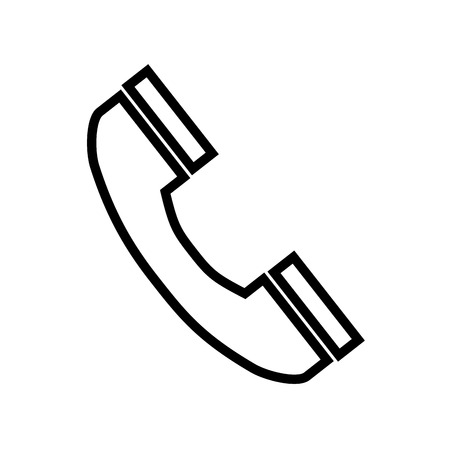 telephone handset phone call line vector illustration Illustration