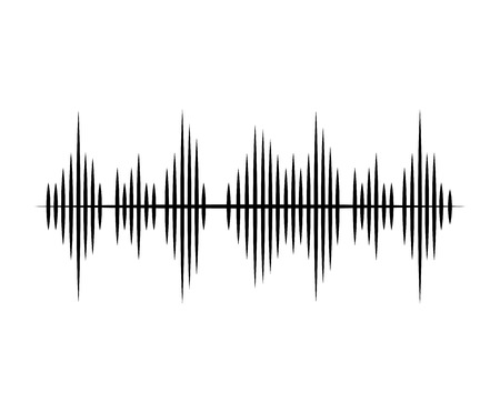 music sound waves audio technology musical pulse. Vector illustration