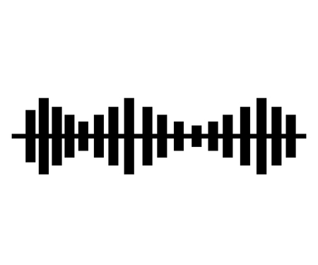 soundness: music sound waves audio technology musical pulse. Vector illustration