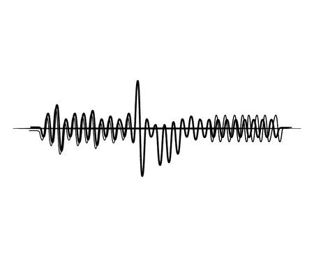 音の波の音楽オーディオ テクノロジー音楽パルス。ベクトル図