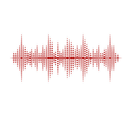digital wave: music sound waves audio technology musical pulse. Vector illustration