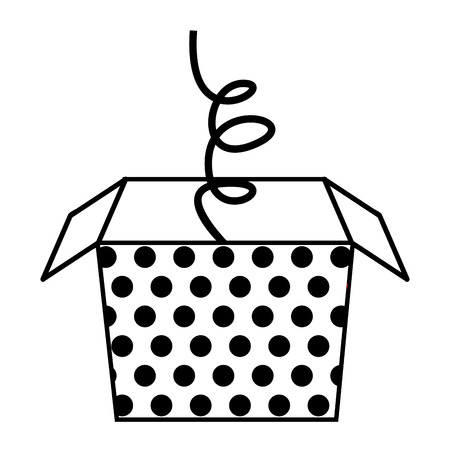 springing: surprice box dotted isolated icon vector illustration design Illustration