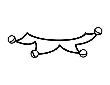 jester: jester joker character isolated icon vector illustration design