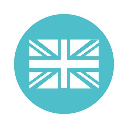 bandera de gran bretaña: flag england isolated icon vector illustration design Vectores