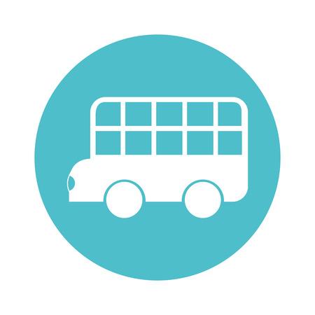 bus classic london isolated icon vector illustration design