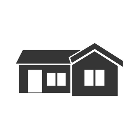 luxury home exterior: house home real estate residential property building vector illustration Illustration