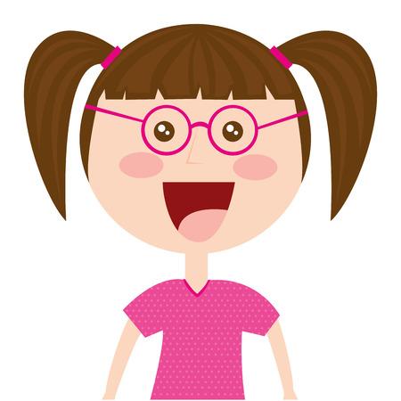 girl cute isolated icon vector illustration design