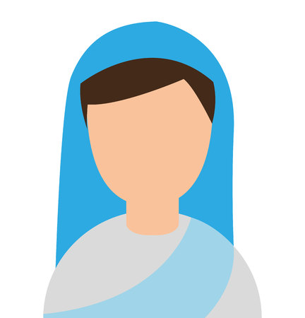 christian young: nun woman character religion vector illustration design