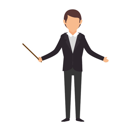 open arms: avatar business man wearing colorful clothes and open arms vector illustration