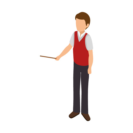 avatar business man wearing colorful clothes and open arms vector illustration