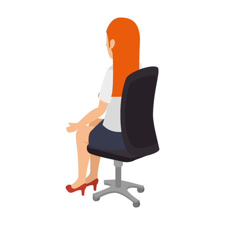 open arms: avatar woman sitting on a chair wearing colorful clothes and open arms