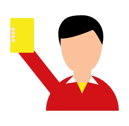 referee soccer yellow card vector illustration design