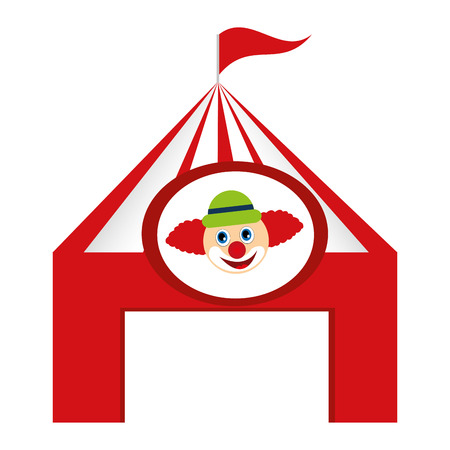 tent circus clown isolated icon vector illustration design
