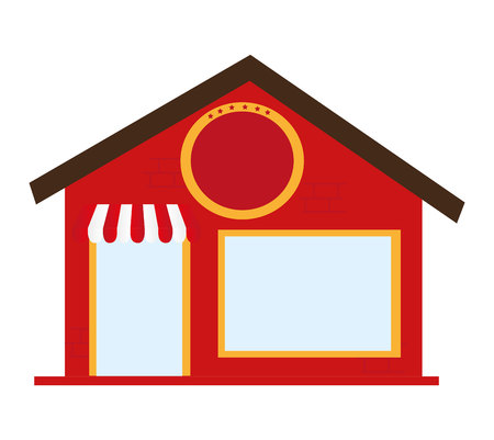 retail place: store building place isolated vector illustration design Illustration