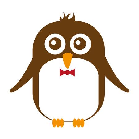 tender: cute penguin animal tender isolated icon vector illustration design
