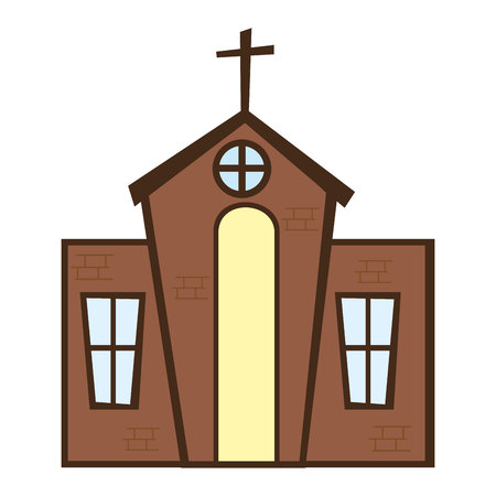 church building: church building religion isolated icon vector illustration design Illustration