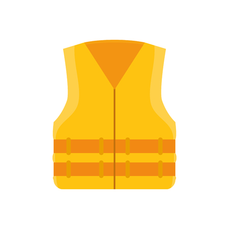 yellow jacket: yellow jacket uniform  work safety  industrial security equipment vector illustration