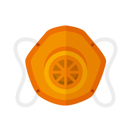 detection: gas protection mask industrial security equipment. vector illustration