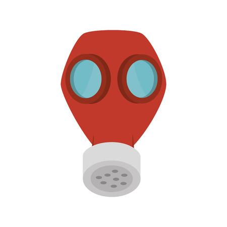 seguridad industrial: equipos de seguridad industrial de gas máscara de protección. ilustración vectorial
