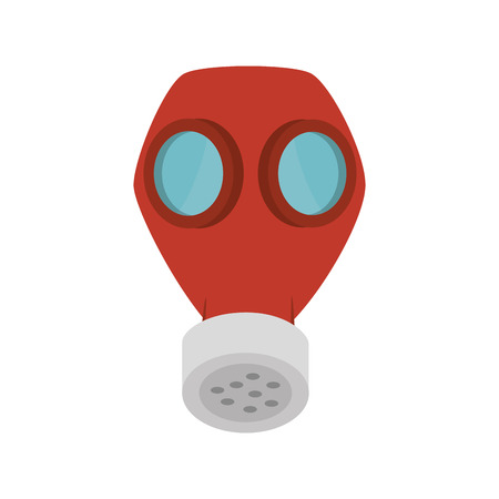 the precaution: gas protection mask industrial security equipment. vector illustration