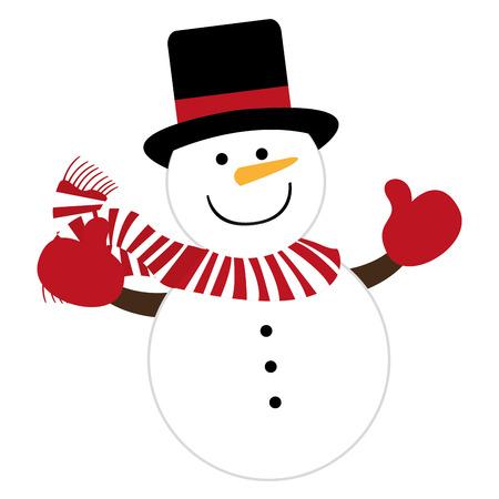 snowman character cute christmas vector illustration design