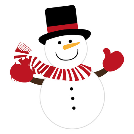 snowman character cute christmas vector illustration design
