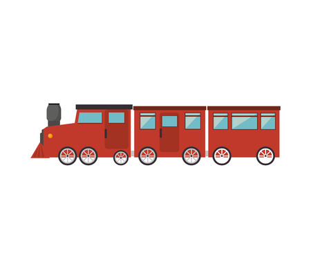 old train: old train rail transport vehicle vector illustration