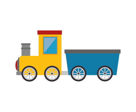 old train rail transport vehicle vector illustration