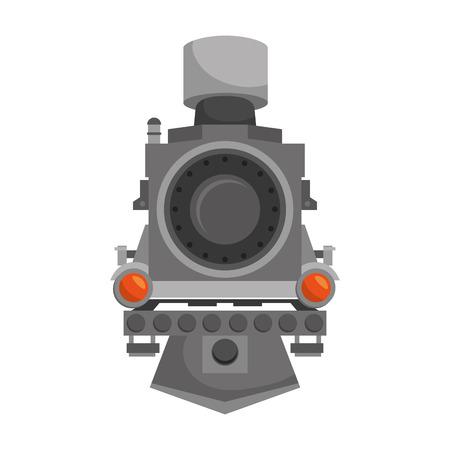 Lokomotive Schienentransportfahrzeug Vektor-Illustration Dampf Vektorgrafik