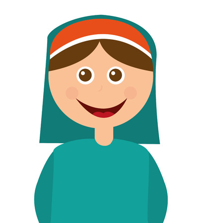 nativety: shepherb cute manger character vector illustration design