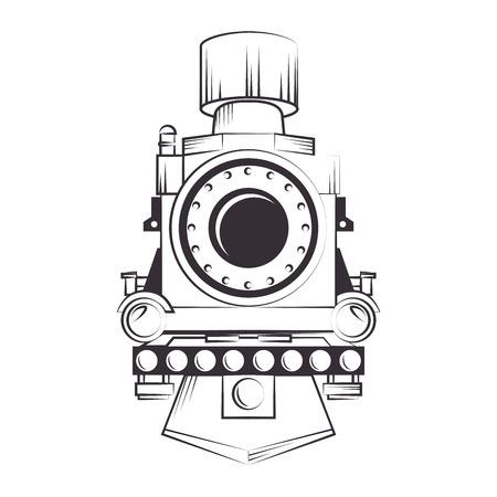 steam locomotive: steam locomotive rail transport vehicle silhouette vector illustration