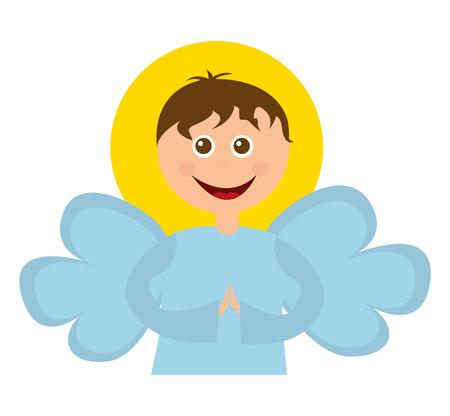 angel manger character christmas vector illustration design