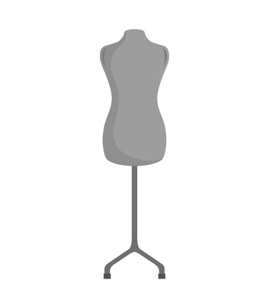 torso: vintage female torso mannequin. Object of Fashion and sewing, Vector illustration