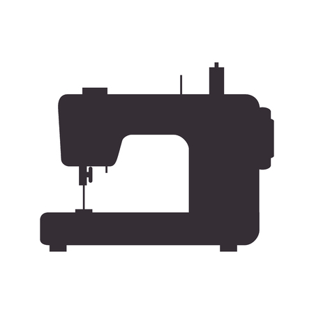 dressmaking: sewing machine, Tailoring and dressmaking, Equipment for fashion industry. Vector illustration