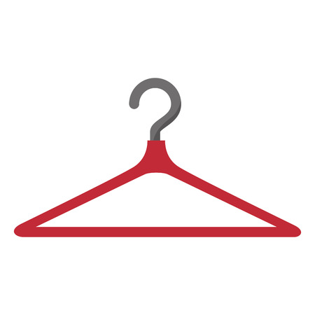 clothing rack: clothing hanger hook. coat rack tool vector illustration Illustration