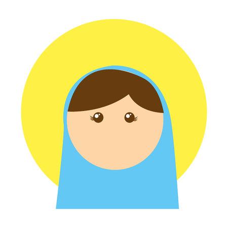 nativety: virgin mary manger character vector illustration design