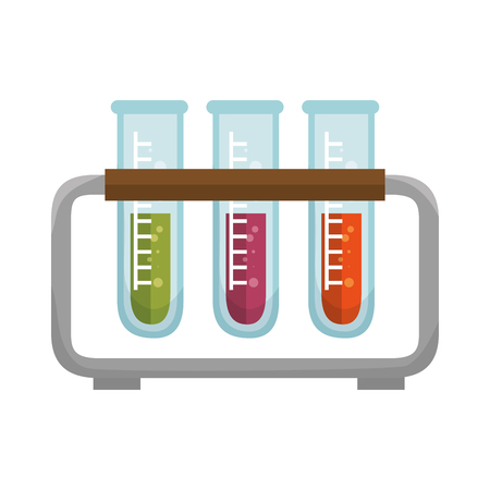test tube: test tube. chemical laboratory glass with liquid vector illustration