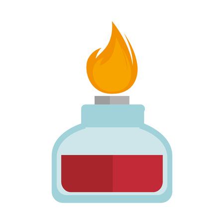 illuminator: spirit lamp chemical alcohol fire  burner. vector illustration