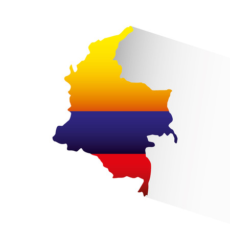 colombian flag: colombian flag colorful icon vector illustration design Illustration